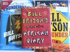 3 x Bill Bryson Hardcover Books - African Diary,  Down Under, Thunderbolt Kid