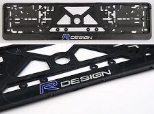 R DESIGN VOLVO FRAMES EURO for LICENSE PLATE PLATES XC90 XC70 XC60 V70 V50 S60