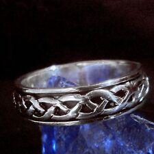 Spinning Ring 925 Silber Moving Wikinger Viking Knotwork LARP 1