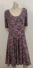 LULAROE WOMEN'S PINK & GRAY FLORAL PRINT DRESS SIZE 2XL