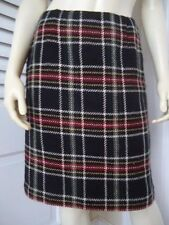 TALBOTS PETITES Skirt 6 Plaid 100% Wool Straight Lined Above Knee CLASSY!