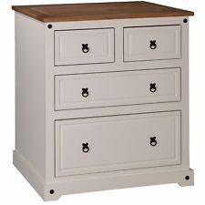 Home Furniture CORONA Painted 2 Plus Chest of Drawers Cream Pine Wooden Style