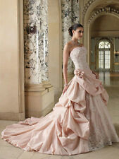 Pink White/ivory Wedding Dress Brides Gown Size 4 6 8 10 12 14 16 18 Custom made
