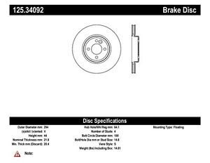 StopTech For 2006 Mini Cooper Disc Brake Rotor Base Front Centric - 125.34092