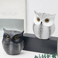 Decorative Home Ornament Owl Shape Gifts Resin Crafts Nordic Style Figurines