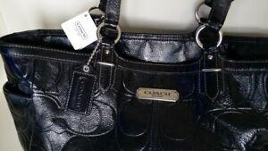 NWT Coach F 19462 Black Patent Leather Tote Women's handbag $358.00