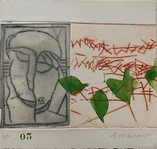 Coignard James gravure originale signée art abstrait abstraction Paris Mougins