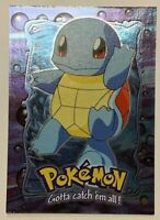 Pokemon Squirtle #07 - E7 of 12 Topps TV Animation Blue Label - HOLO FOIL - M-NM