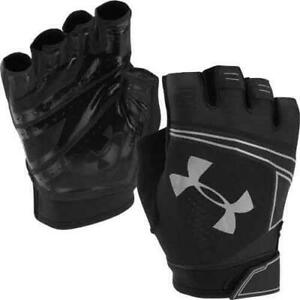 UNDER ARMOUR COOLSWITCH Men's FITNESS TRAINING GYM GLOVES - Black silver