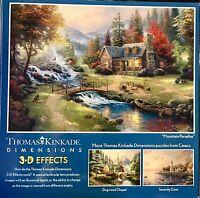 Thomas Kinkade's 300 Piece Over-sized 3-D Effect Puzzle Mountain Paradise