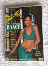 CRUNCH- FAT BURNING DANCE PARTY! (DVD) R-ALL, LIKE NEW, FREE POST IN AUSTRALIA