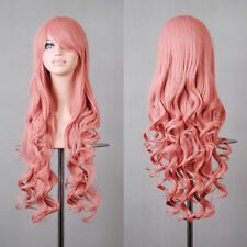 Women Fashion 80cm Long Curly Wavy Hair Fashion anime Cosplay Party Full Wig
