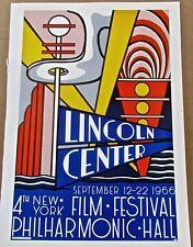 Roy Lichtenstein  Poster for the Fourth New Film Film  Festival in LC 16x11