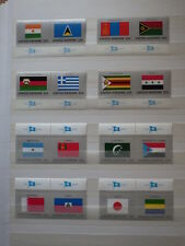 16x stamps ONU Nations Unies UN United Nations NEW YORK Flags 1987 MNH**  2x (H)