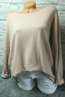 Italy Pullover Pulli knit Gr. 36 38 40 42 rosa weich blogger Cashmere edel NEU