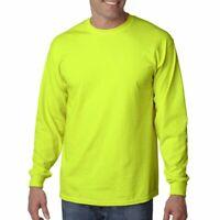 ##Gildan 2400 BUDGET ANSI Safety Green Long Sleeve T-Shirt 5XL   SAFETY GREEN
