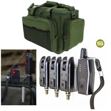 Saber Z3 3+1 Wireless Bite Alarm Set With Case + NGT Carp Fishing Insulated Bag