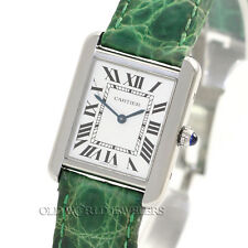 Cartier Tank Solo W1018255 Quartz Silver Roman Stainless Steel Box Papers