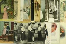 Vintage Lot Paper Postcards Humor Romance Valentines Love Courting Couples