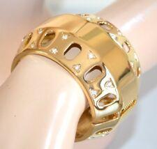 PULSERA mujer oro brazalete brillante rígido sexy strass ceremonia armband 1045