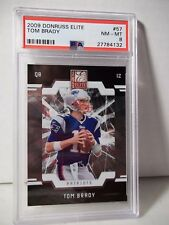 2009 Donruss Elite Tom Brady PSA NM-MT 8 Football Card #57 NFL