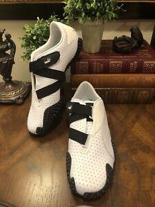 Puma Mostro Perf Sneakers RARE! White / Black 341953 03 Women's US 10