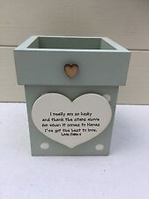 Personalised Shabby Flower Pot Chic Nanny Nannie Grandma Nan Gran  ANY NAME