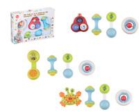 4PC Musical BABY RATTLE SET KIDS NEWBORN PRAM BABY SHOWER BOXED Activity Toys