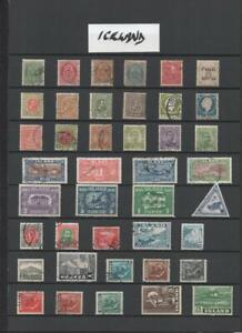 ICELAND COLLECTION ON 4 PAGES