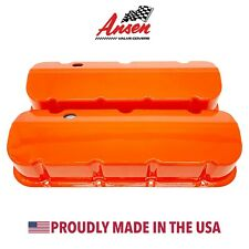 Big Block Chevy Tall Valve Covers - Die-Cast Aluminum Orange - Ansen USA