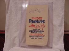 SUPER RARE Gaylord Perry Auto'd Perry Peanut Farm 5 lb Bag Atlanta Braves, MINT!