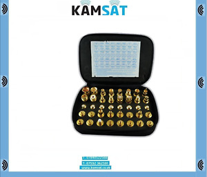 OPEK AT-401K PREMIUM 40 PIECE RF ADPATER KIT GOLD PLATED BRASS BODY CONSTRUCTION