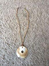 "Nice women's girl's Hawaii Hawaiian pearl/abalone necklace 18"" long"
