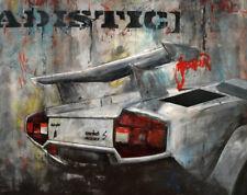 Countach Canvas Print Lamborghini Art