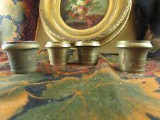 4 anciens bronzes ameublement sabots pied de table meuble toupie st lxvi empire