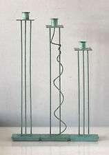 New ListingSwid Powell Bronze Sculpture Candle Holders Candlesticks -Signed- Vintage Modern