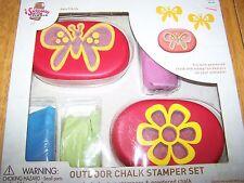I Scream Outdoor Sidewalk Chalk Stamper Set Two Stampers Powdered Chalk