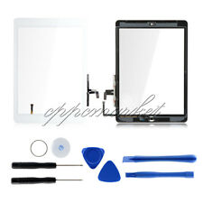 For iPad air 5th Touch Screen Glass Replacement with IC Chip+Home Button White