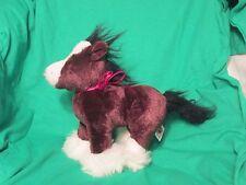 Clydsdale Stuffed Animal Brown Black Mane/Tail 10hx9L Ganz