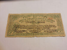 Philippines Emergency Currency Military Script 1943 20 Pesos Free Negros Unique