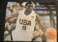 TYREKE EVANS SIGNED 8X10 PHOTO USA TEAM NBA PACERS KINGS B W/COA+PROOF RARE WOW