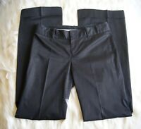 Club Monaco Size 4 Women's Cuffed Pants Trousers Black Buttoned Pockets Career