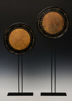 Late 19th Century, Meiji, A Pair of Japanese Leather Drum Top