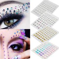 81X 3D Sticker Cristal Strass Eyeliner Visage Yeux Autocollant Maquillage Bijoux