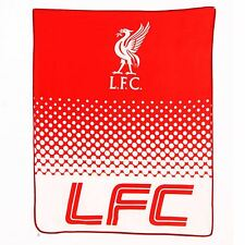 LIVERPOOL FC FLEECE BLANKET THROW NEW OFFICIAL FOOTBALL