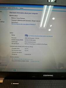 """HP Compaq Presario CQ5615.6"""" 120GB SSD, AMD V140 @ 2.3GHz, 4GB RAM"""