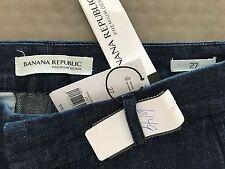 "NWT Banana Republic women's jeans size 27 waist 29"" rise 9"" inseam  premium deni"
