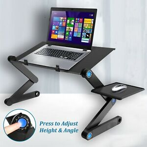 Folding Laptop Stand Portable Computer Desk Table Adjustable Sofa Laptop Table