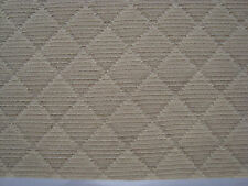 100% COTTON FABRIC, DIAMOND PATTERN, color CREAM, UPHOLSTERY FABRIC BY THE YARD