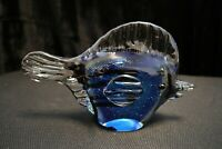 Murano Italian Art Glass - Sculpture Figure - BLUE FISH - Nice Details & Colors